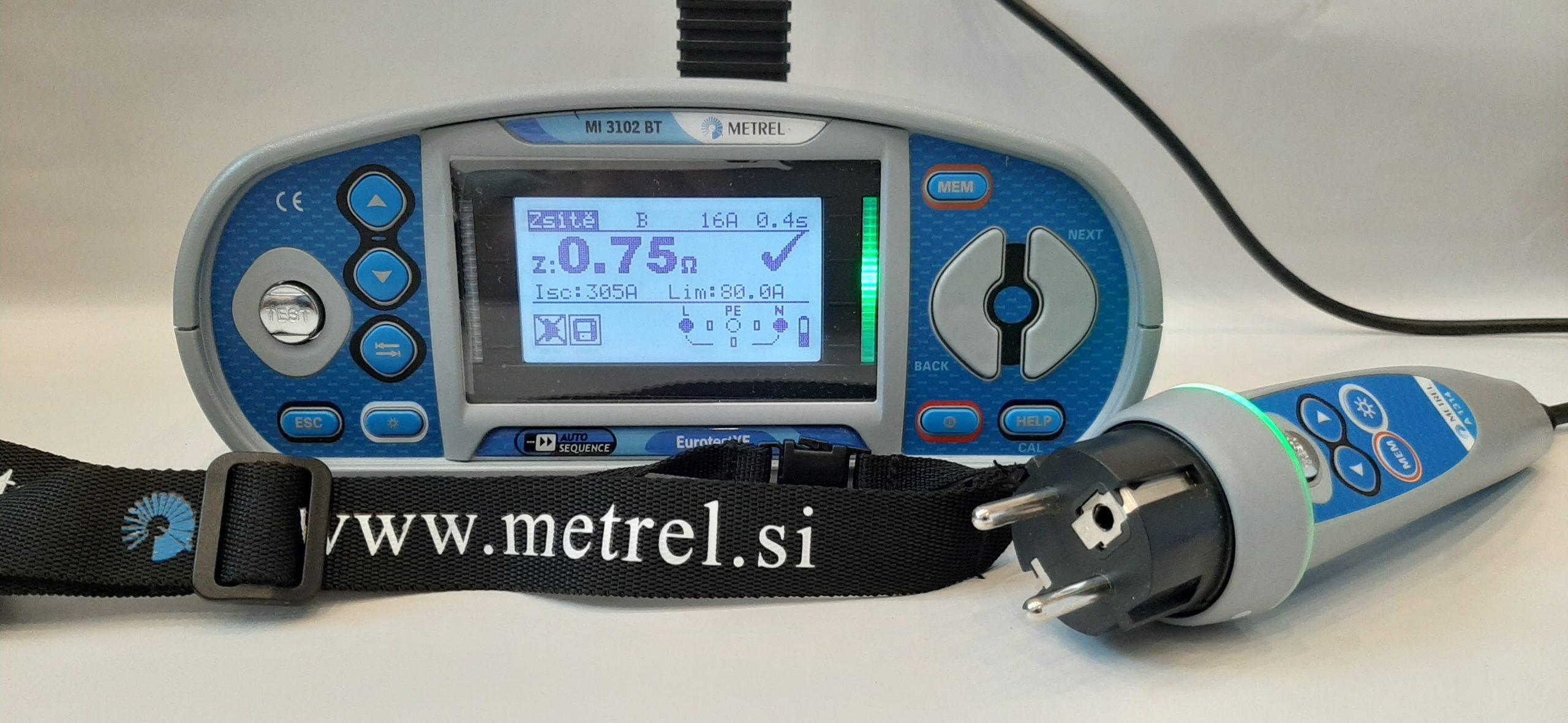 Merací prístroj METREL MI 3102 BT - združený revízny prístroj vhodný na výkon revízie